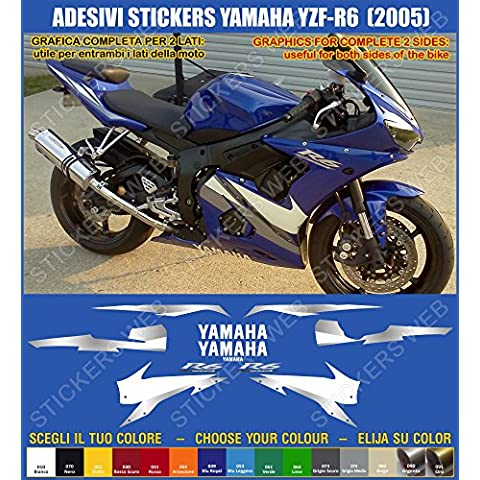 Yamaha YZF R6-Pegatina YZF R6 (2005) sticker kit para modelo 0390 incluye carcasa, color azul