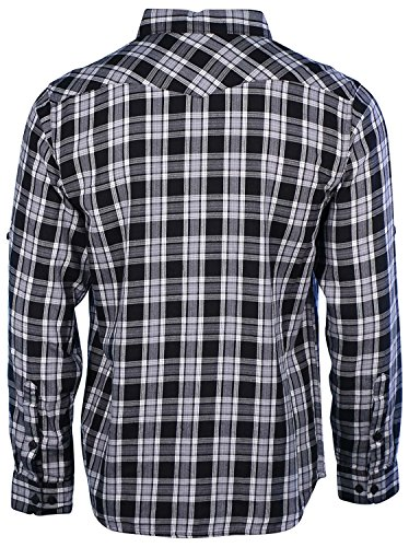 Columbia Mens Vintage Hills Long Sleeve Shirt Black