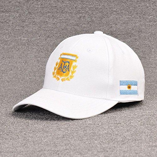 Argentinien Cap (WEI Weltmeisterschaft-Fußball-Fans Sonnenhut-Baseballmütze-Sport-Kappe,Argentinien,Einheitsgröße)