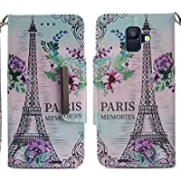 Handyhülle Samsung Galaxy A6 2018,HUDDU Paris Blumen Muster Rosa Schutzhülle Samsung A6 2018 Hülle Flip Leder... preisvergleich bei billige-tabletten.eu