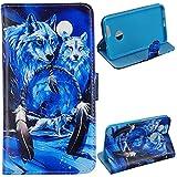 Voguecase® für Huawei Nova 5.0 hülle, Kunstleder Tasche PU Schutzhülle Tasche Leder Brieftasche Hülle Case Cover (Weiß Wolf) + Gratis Universal Eingabestift