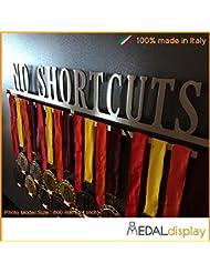 No Shortcuts | Puerta medallas/medallón de pared medaldisplay Medal Hanger, 750mm x 115mm x 3mm