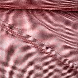 Stoff Baumwolle Seersucker Vichy Karo rot weiß 2,5 mm