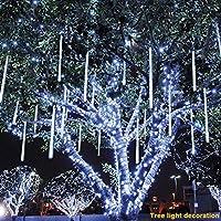 Synnymi - Lampe LED effet pluie de météores - Guirlande lumineuse décorative pour jardin, fête, mariage, sapin de Noël, terrasse