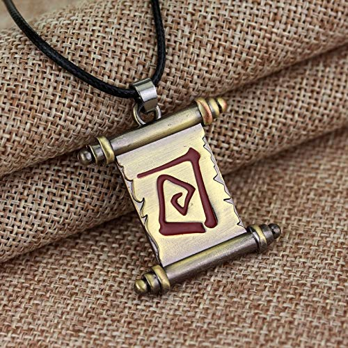 a 2 Schmuck Halskette Scroll Der Stadt Portal Cosplay Anhänger Halskette Film Spiel Geschenk Für Männer Und Frauen ()