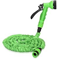 khodal eva Zunasika 50m/15ft Expandable Garden Hose - Flexible Water Pipe with 7 Pattern Spray Gun - No Kink Lightweight…