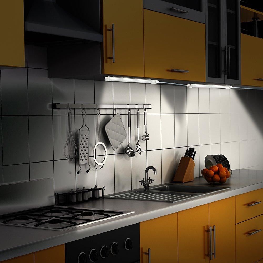Luce LED Sottopensile Cucina 5 Pezzi LOFTer Lampada Barra LED Bacone Bar a  21 LED Luce per Armadio Cucina Scaffale e Corridoio Luce Dimmerabile LED ...