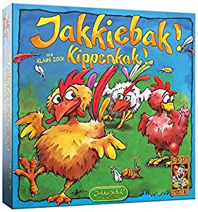 999 Games Jakkiebak! Kippenkak! Juego de Mesa de Aprendizaje - Juego de Tablero (Juego de Mesa de Aprendizaje, 20 min, Niño/niña, 4 año(s), Holandés, Multicolor)