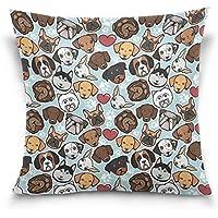 Überwurf Kissen Fall Dekorative Kissenhülle Kissenbezug,, Hipster Mops  Chihuahua Welpe Dog Paw Print Sofa