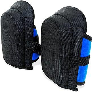 Deuba | Paar de rodilleras | Confortables | Material robusto | ligeras | adaptable a cualquier pierna | Material: Policloruno, EVA, Espuma, Nylon |1 paar de rodilleras |