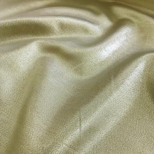Uni Rückseite gold/silber uni Lame Kleid, Kostüm, Craft Stoff, 147,3cm 147cm Breite–Meterware (Lame Kostüme)