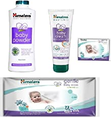Himalaya Combo (Cream 200ml + Baby Powder 400gm + Baby Wipes 72 Pcs) Free 12 Pcs Wipes