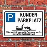 [2221] Schild Parkplatz, Kundenparkplatz, 3 mm Alu-Verbund (450 x 300 mm)