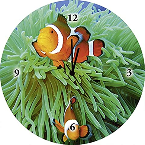 Float Glass Clock to watches with Artland Pattern animals Fish Tommy Schultz: Finding Nemo Size: 35 x 35 CM Large Selection in Our