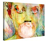 Gallery of Innovative Art Premium Leinwanddruck 100x75cm - Bubblegum Girl - XXL Kunstdruck auf Leinwand