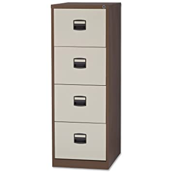 Awesome Trexus Filing Cabinet Steel Lockable 4 Drawer W470xd622xh1321mm Brown And  Cream Co Uk Office Products