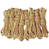 LEX ROPES premium Set Shibari Bondage Juteseil Rope Set 8 teilig je 8 m x 6mm