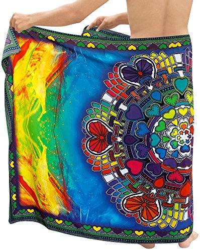 LA LEELA verschleiern Badeanzug für Männer Badeanzug Badebekleidung Bademode Verpackung Pareo Multi Sarong
