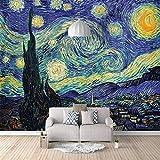 Photo 3D Papier Peint Papier Peint Van Gogh Art Abstrait Autocollants Toile Autocollante pour Chambre Salon Tv Fond Décoration Murale Murales 150cm(W) x105cm(H)