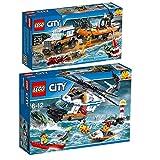 Lego City 2er Set 60165 60166 Geländewagen mit Rettungsboot + Seenot-Rettungshubschrauber
