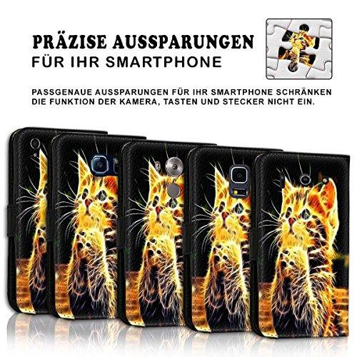 Wallet Book Style Flip Handy Tasche Case Schutz Hülle Schale Motiv Etui für Apple iPhone 6 / 6S - Variante UMV7 Design12 Design 1