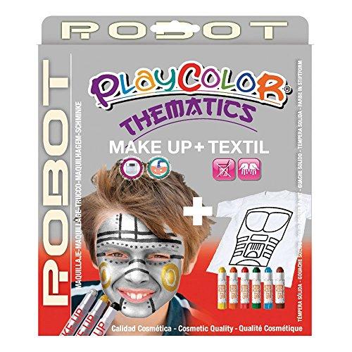 Playcolor 58043 - Bolsillo de maquillaje básico de 5 g con 10 g de textil, diseño de robot