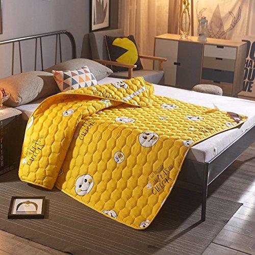 Yellow star Anti-Rutsch Waschbar Futon-matratze Topper,Tatami Boden Matte studentenwohnheim Tragbare Schlafen Pad krempelt Gesteppte Bett Schutz-Pad-F 120x200cm(47x79inch)
