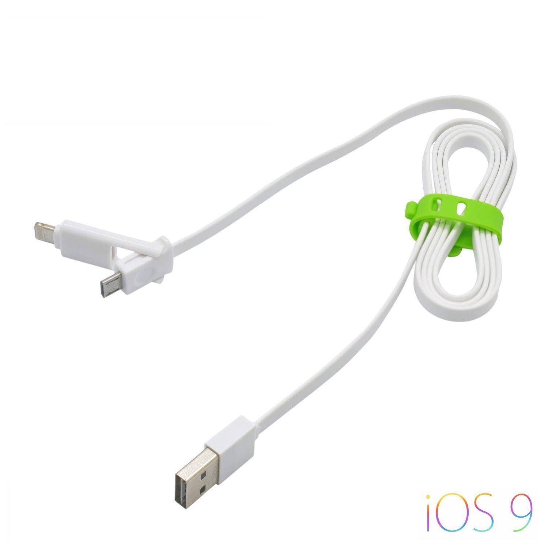 Cavo di ricarica USB 2 in 1 / cavo dati con uscita Micro USB + uscita per nuovi Apple - per iPhone