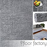 floor factory Hochflor Shaggy Teppich Colors Silber/grau 160x230cm - Pflegeleichter und günstiger Langflorteppich