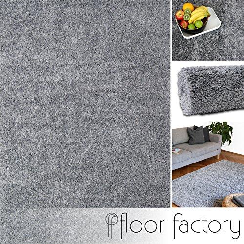 Alfombra moderna Colors gris argentado 140x200cm - alfombra shaggy al precio súper económico