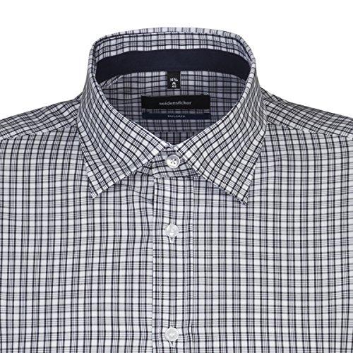 Michaelax-Fashion-Trade Camicia Classiche - A Quadri - Classico - Maniche Lunghe - Uomo Blu (12)