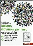 Italiano: istruzioni per l'uso. Vol. A-B. Essenziale. Per la Scuola media. Con espansione online