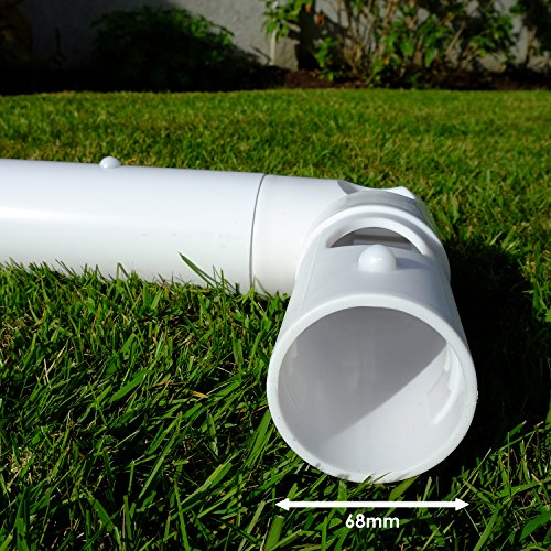 Samba 2 43m x 1 83m Football Goal - Garden Goal Posts  Complete with Football Net  Clips and Pegs