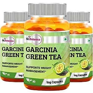 StBotanica Garcinia Green Tea - 90 Veg Caps - Pack of 3