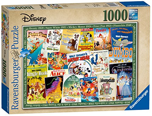 Ravensburger Disney - Póster de película Vintage, 1000 Piezas, Puzzle