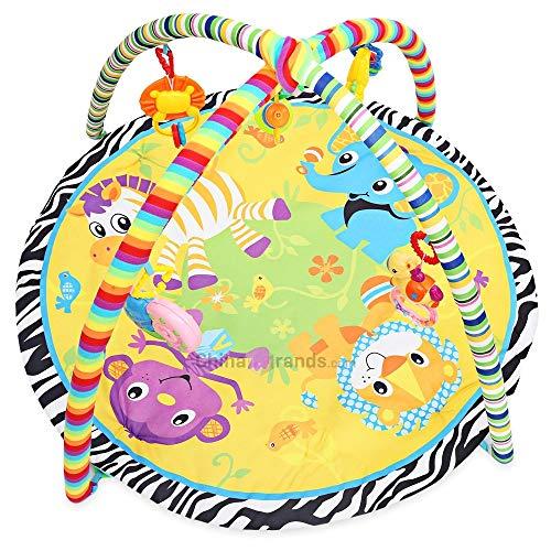 Niedliches und lustiges Babyspiel-Rasseln Kinder Weiche Spielmatte Cartoon Tier Gym Fitness Decke mit Rahmen Rassel Krabbeln Spielzeug Outdoor Indoor-Spiele