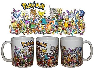 Taza Pokemon 1º Generacion + chapa de HobbyElx