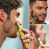 Philips OneBlade Hybrid Body and Face Trimmer with 4 x Lengths, 1 Extra Blade and Travel Pouch, Amazon Exclusive (UK 2-Pin Bathroom Plug) - QP2630/30