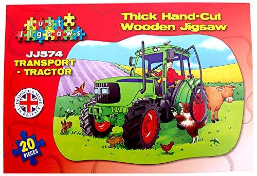 Just Puzzles JJ574Traktor Holz geformte Boden Puzzle Preisvergleich