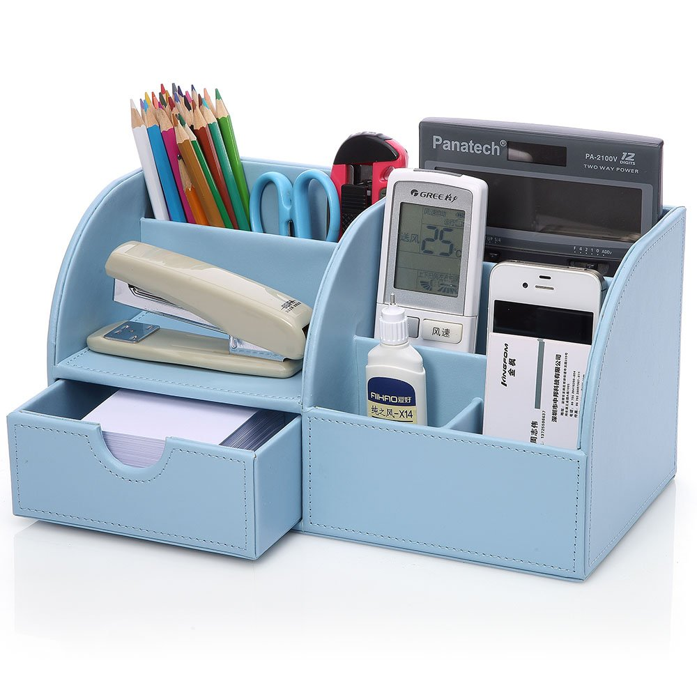 KINGFOM™ 7 Storage Compartments Multifunctional PU Leather Office ...