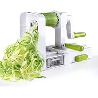 Sedhoom Spiralizer 5 Lames Coupe-légumes Spirale de légumes, Pliable trancheuse Spirale, courgettes Nouilles et légumes…
