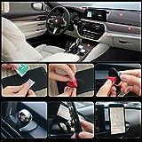 Auto Handyhalterung, Foraco Universal KFZ Magnet Handy Halter mit Ringhalter für Navi Smartphone iPhone 7 6 5 usw., Schwarz - 3