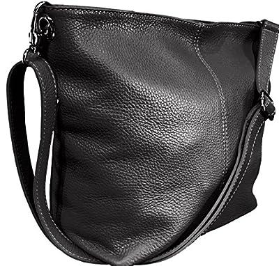 Handbag Bliss Genuine Italian Soft Leather Cross Body Shoulder Slouch Bag Handbag With Cotton Like Lining 2 Sizes
