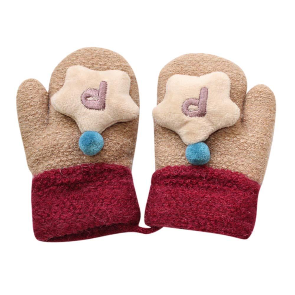 Fashion Winter Warm Child Toddler Baby Boy Girl Kids Gloves Soft Knitting Mitten