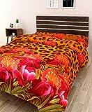 #6: IWS 3D Printed 160 TC Polycotton Single Bedsheet - Floral, Multicolour