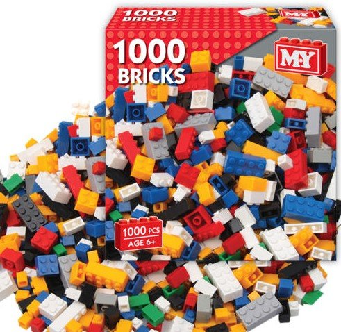 Great Gift For Kids ! 1000 PIECE ASSORTED TOY CONSTRUCTION BUILDING BRICKS / Toys Play Game Toddler Boys Girls Unisex Cool Educational Shop Store Christmas XMAS Classic Popular Unique Preschool Discount Child Childrens Creative Learning Building Special Present Rare