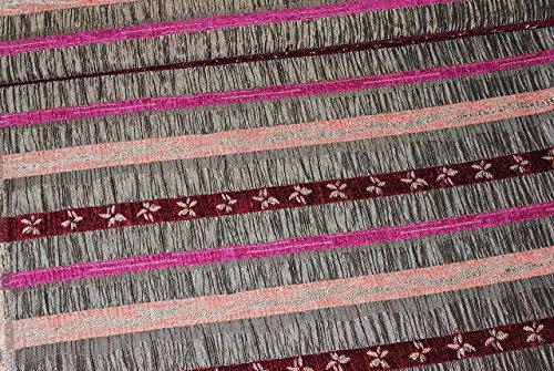 1 m * 1,5 m - Stoff - edler Taft - Satin - rosa / pink - grau - gestreift - Festkleidung / Festkleid...
