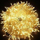 Ulinek 100M/500 LED Guirlande Guirlandes Lumineuses Décoration avec 8 Modes d'éclairage Pour Anniversaire, Sapin de Noël, Christmas Arbre, Mariage, Party, Décoration Maison (Blanc chaud)