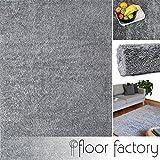 Alfombra moderna Colors gris argentado 200x290cm - alfombra shaggy al precio súper económico