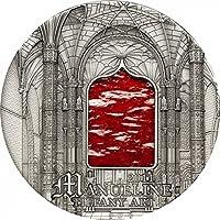 Tiffany Art - Style Manuélin $10 2oz Verre et Argent pièce de monnaie - Palau 2011